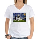 Starry / Bullmastiff Women's V-Neck T-Shirt