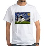 Starry / Bullmastiff White T-Shirt