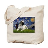 Starry / Bullmastiff Tote Bag