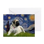 Starry / Bullmastiff Greeting Card