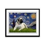 Starry / Bullmastiff Framed Panel Print