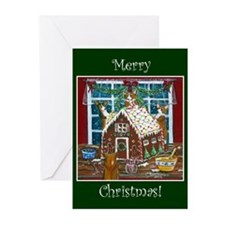 Merry Christmas Gingerbread C Greeting Cards (Pk o