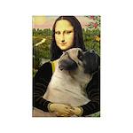 Mona /Bullmastiff Rectangle Magnet (10 pack)
