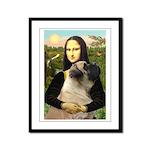 Mona /Bullmastiff Framed Panel Print