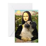 Mona /Bullmastiff Greeting Cards (Pk of 20)