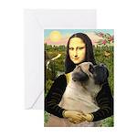 Mona /Bullmastiff Greeting Cards (Pk of 10)