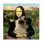 Mona /Bullmastiff Tile Coaster