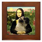Mona /Bullmastiff Framed Tile