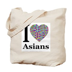 I (Heart) Asians Tote Bag