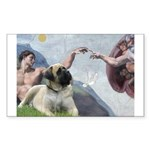 Creation / Bullmastiff Sticker (Rectangle)