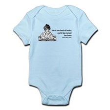 Too Fond of Books (LM Alcott) Infant Bodysuit