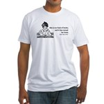 Too Fond of Books (LM Alcott) Fitted T-Shirt