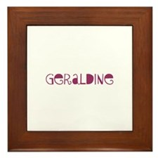 Geraldine Framed Tile