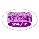 Grandma Tech Support Oval Decal