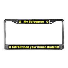 Honor Student Bolognese License Plate Frame