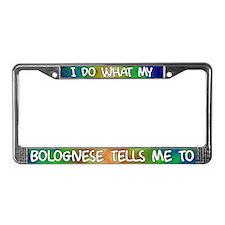 Do what Bolognese License Plate Frame