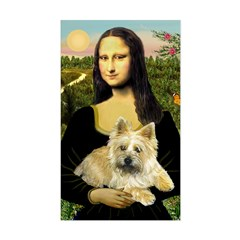 Mona / Cairn T (brin) Sticker (Rectangle)