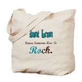Saint Lucians rock Tote Bag