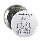 "Food for Thought 2.25"" Button (100 pack)"