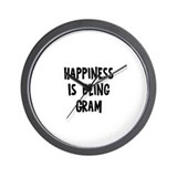 Happiness is being Gram  Wall Clock