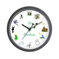 12 Hours of Christmas Wall Clock
