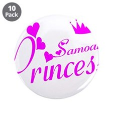 "Samoan princess 3.5"" Button (10 pack)"
