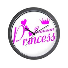 Samoan princess Wall Clock