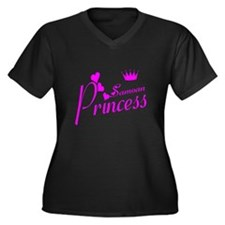 Samoan princess Women's Plus Size V-Neck Dark T-Sh