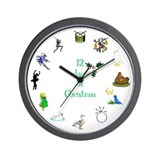 12 Days of Christmas Wall Clock
