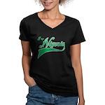 I rep Nigeria Women's V-Neck Dark T-Shirt