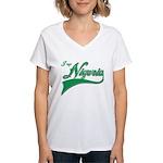 I rep Nigeria Women's V-Neck T-Shirt