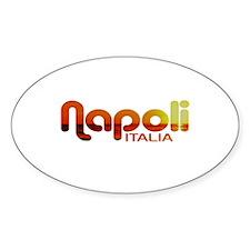 Napoli, Italia Oval Decal
