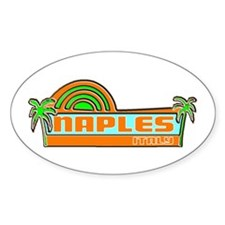 Naples, Italy Oval Decal
