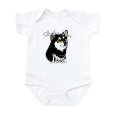 Shiba(blk) Mom2 Infant Bodysuit