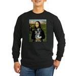 Mona's Catahoula Leopard Long Sleeve Dark T-Shirt