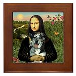 Mona's Catahoula Leopard Framed Tile