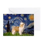 Starry/Puff Crested Greeting Card