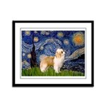 Starry/Puff Crested Framed Panel Print