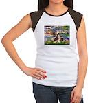 Lilies / C Crested(HL) Women's Cap Sleeve T-Shirt
