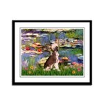 Lilies / C Crested(HL) Framed Panel Print