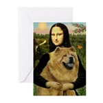 Mona /Chow Chow #1 Greeting Cards (Pk of 20)