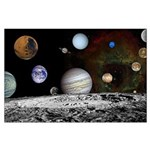 Large Solar System Montage Poster