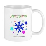 Blue Ribbon Snowflake Mug