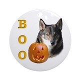 Vallhund Boo Ornament (Round)