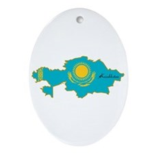 Cool Kazakhstan Oval Ornament
