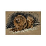 Vintage Chow Chow Rectangle Magnet (100 pack)