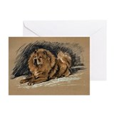 Vintage Chow Chow Greeting Cards (Pk of 10)
