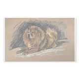 Vintage Chow Chow Rectangle Decal
