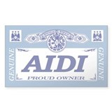 AIDI Rectangle Bumper Stickers