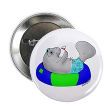 "Manatee 2.25"" Button"